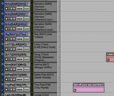 Creating Cues in Pro Tools